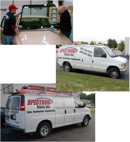 Workers Replacing Glass and Mobile Repair Vehicles in St. Louis, MO